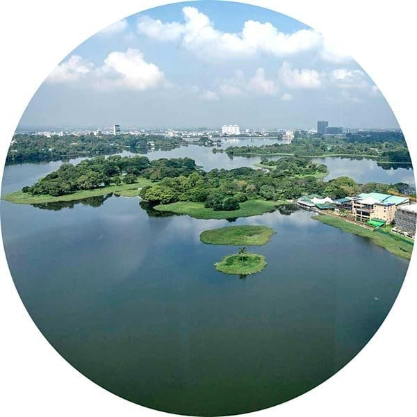 Inya Lake near the KER Kabar Aye Executive Residence