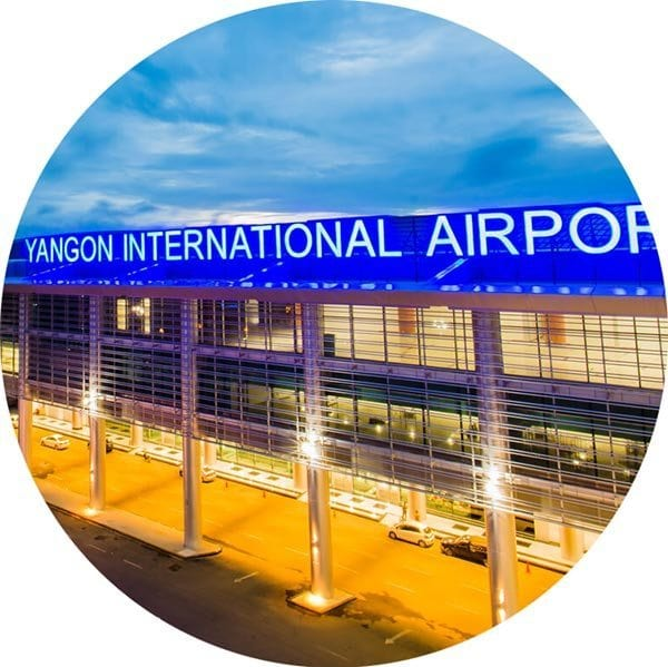 Yangon Airport close to KER Kabar Aye Executive Residence