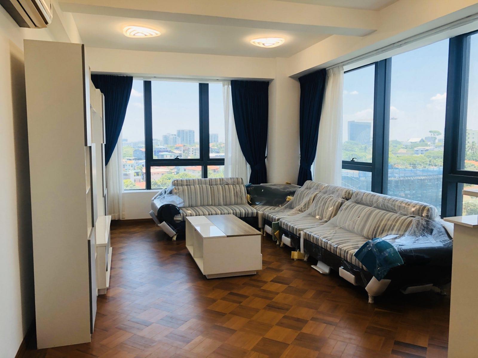 Three-Bedroom Condo in Hlaing Township